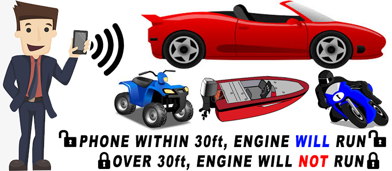 Any Engine Bluetooth Immobilizer System (Car, Truck, Motorcycle